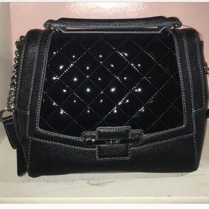 Black Nine West quilted handbag crossbody bag